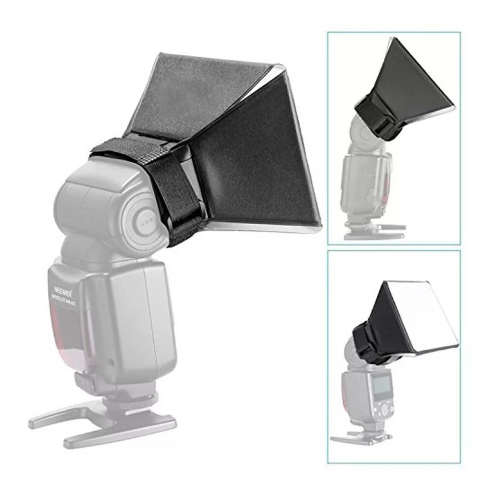 Difusor Flash Mini Softbox Dobrável Pixco - Nikon Canon Universal