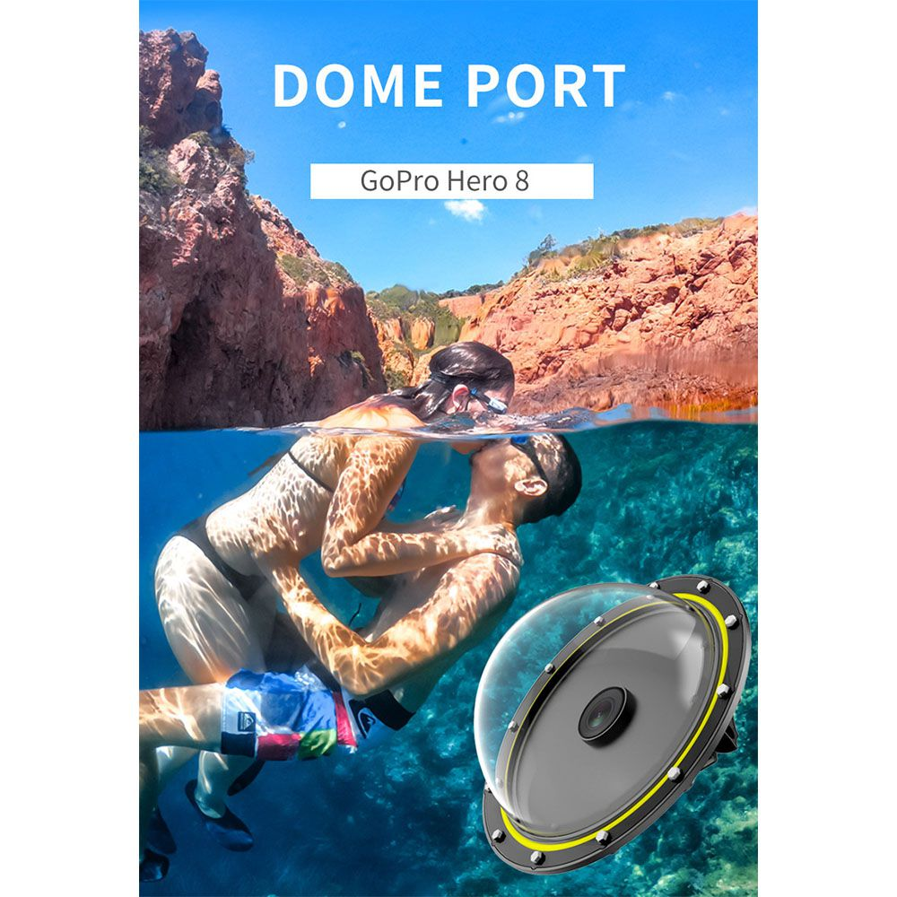 Dome - 6 Polegadas - GoPro Hero8 Black - Telesin