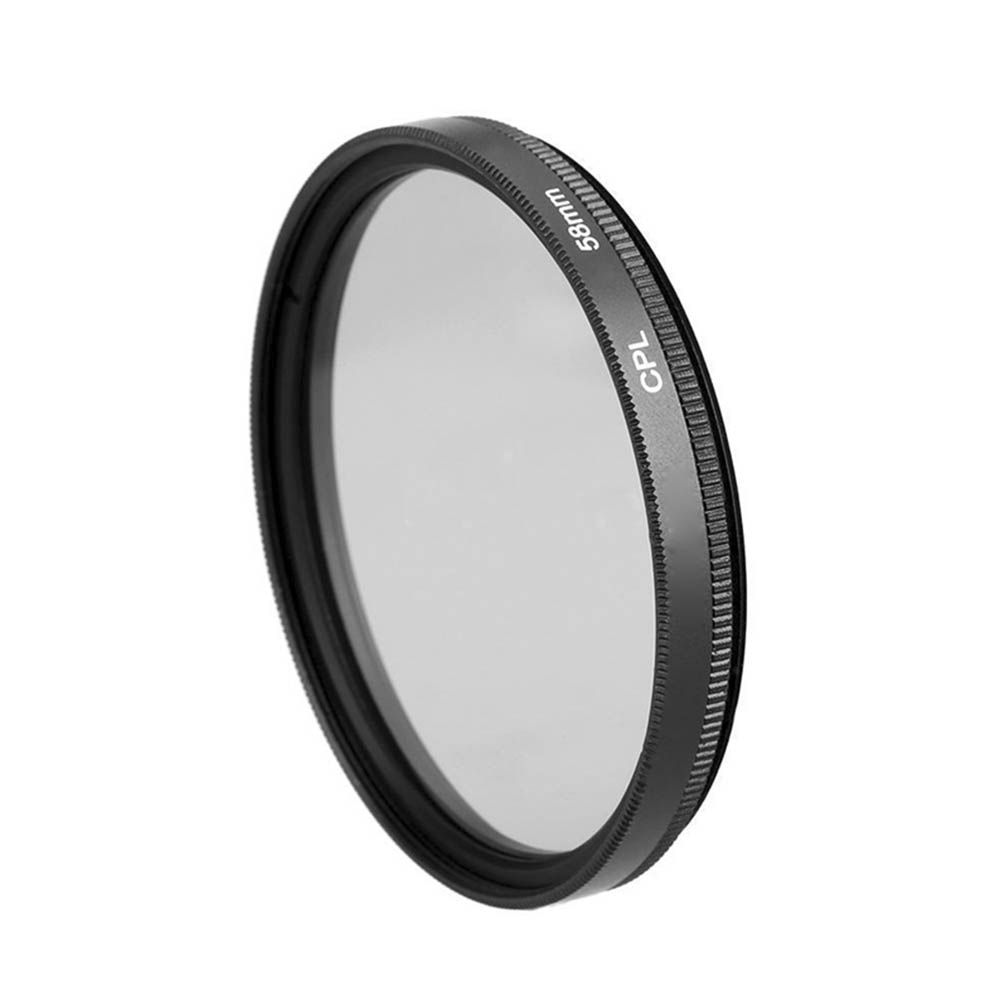 Filtro CPL Polarizador Lente - Nikon Canon Sony - 58mm