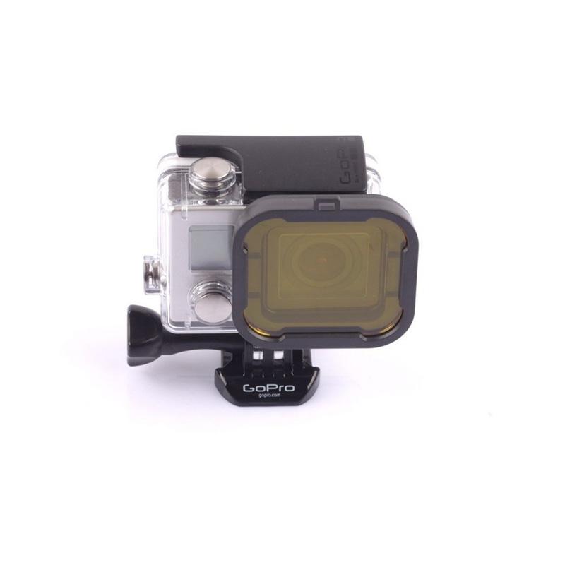 Filtro de Mergulho - Kit com 4 Cores - GoPro Hero3+ e Hero4 - Caixa de 40 metros