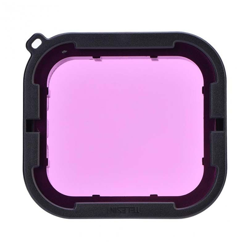 Filtro de Mergulho - Magenta e Vermelho - GoPro Hero5, Hero6 e Hero7 - Telesin