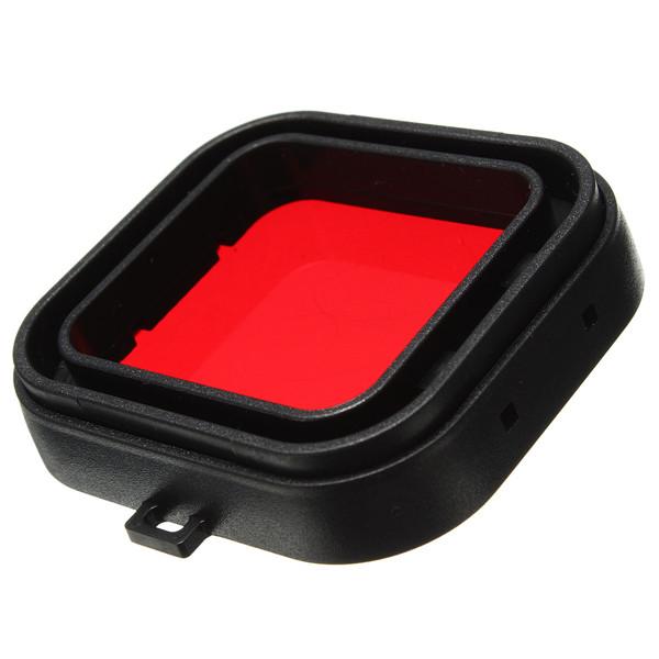 Filtro de Mergulho - Vermelho - GoPro Hero3+ e Hero4 - Caixa de 40 metros