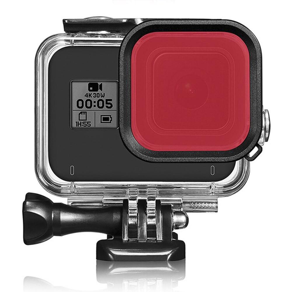 Filtro de Mergulho Vermelho GoPro Hero 8 Black - Para Caixa Estanque da Shoot