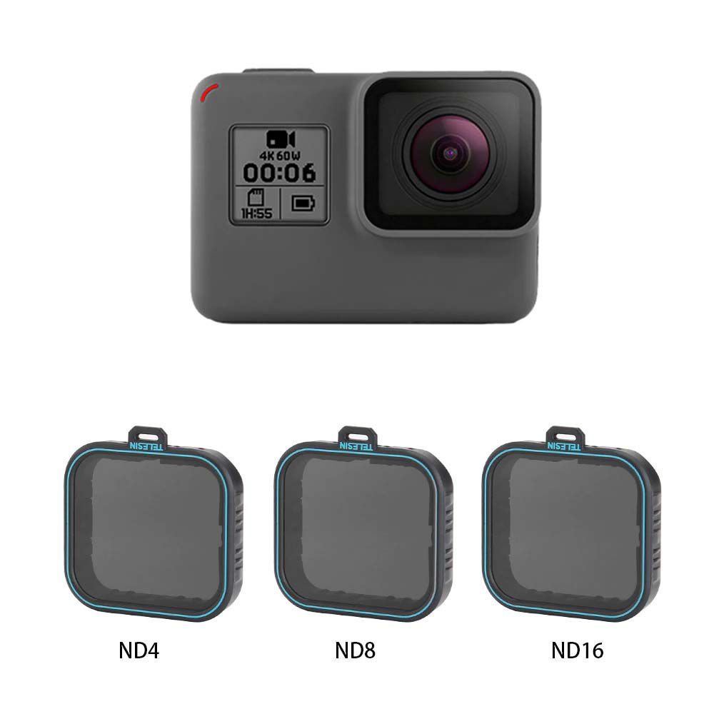Filtros ND - ND4 ND8 ND16 - GoPro Hero5 Hero6 Hero7