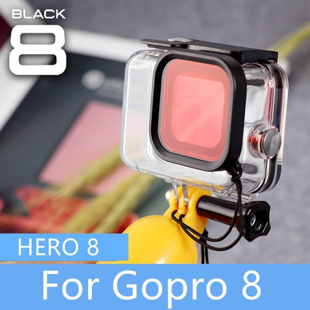 Kit Caixa Estanque com Filtro de Mergulho Snorkel - GoPro Hero8 - 60 Metros