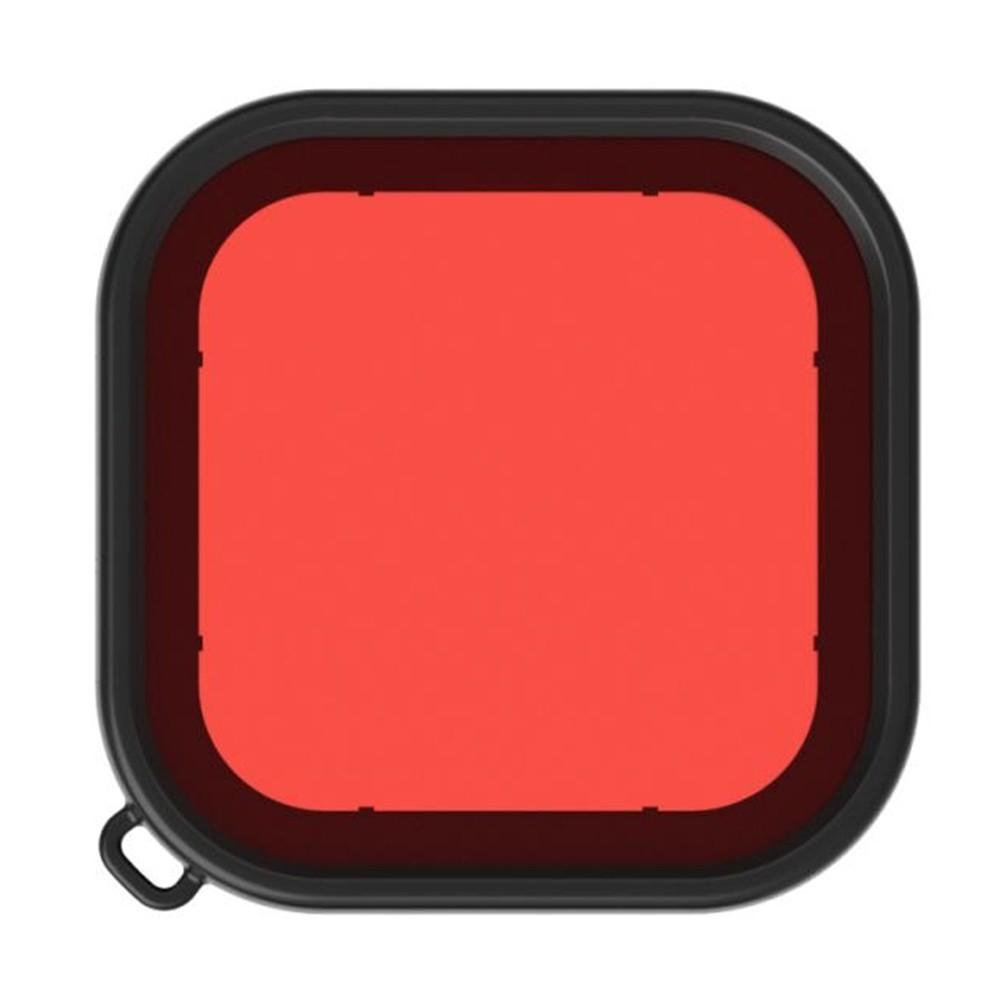 Kit Caixa Estanque com Filtro de Mergulho Vermelho - GoPro Hero8 - 60 Metros