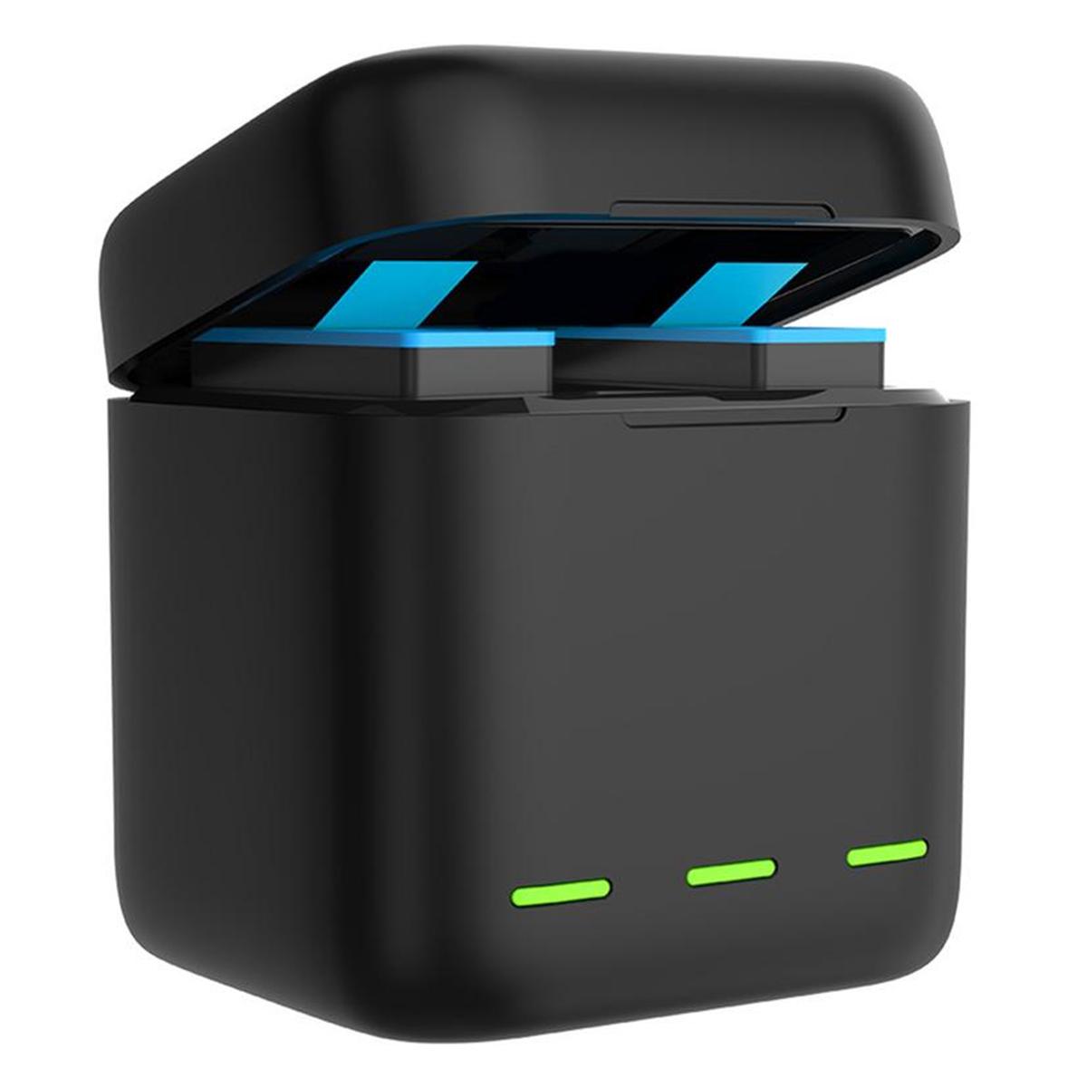 Kit Carregador Triplo com Duas Baterias - GoPro Hero9 Black - Telesin
