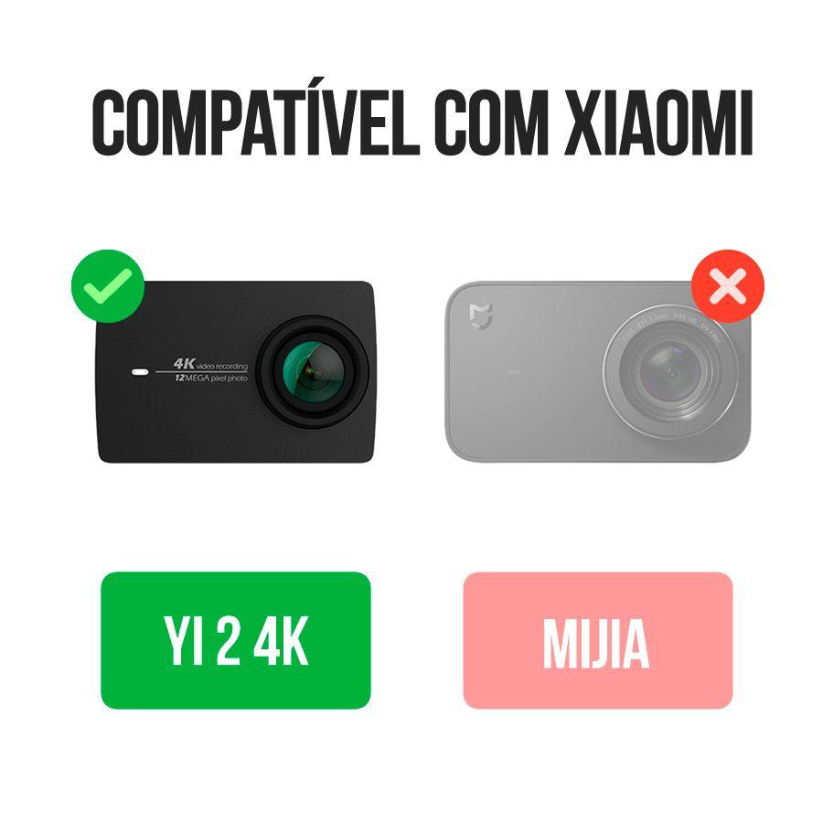 Kit com 2 Baterias e 1 Carregador - Xiaomi Yi 2 4K - Lite