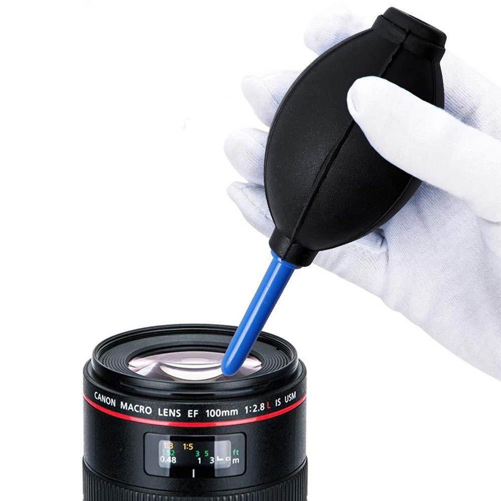 Kit Limpeza Camera Lente Fotografica Dslr - Soprador, Pincel e Pano