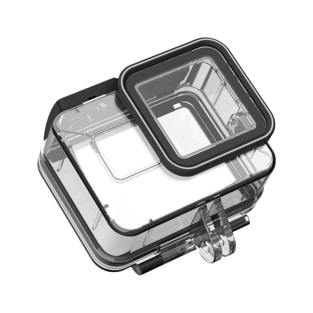 Kit Proteção - Caixa Estanque - Capa Silicone - Película Vidro - GoPro Hero8 - Telesin