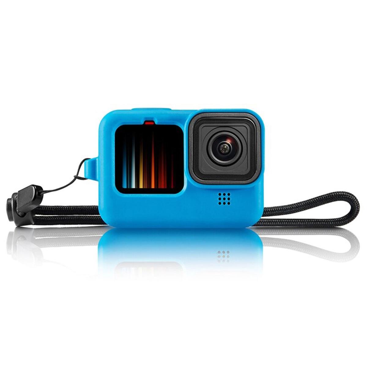 Kit Proteção - Caixa Estanque - Capa Silicone - Película Vidro para GoPro Hero9 e Hero10 - Shoot