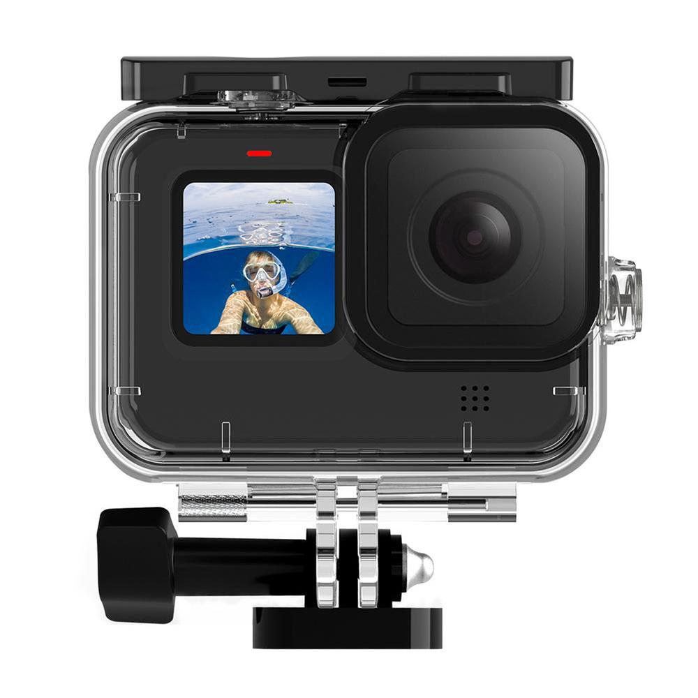 Kit Proteção - Caixa Estanque - Capa Silicone - Película Vidro para GoPro Hero9 e Hero10 - Telesin