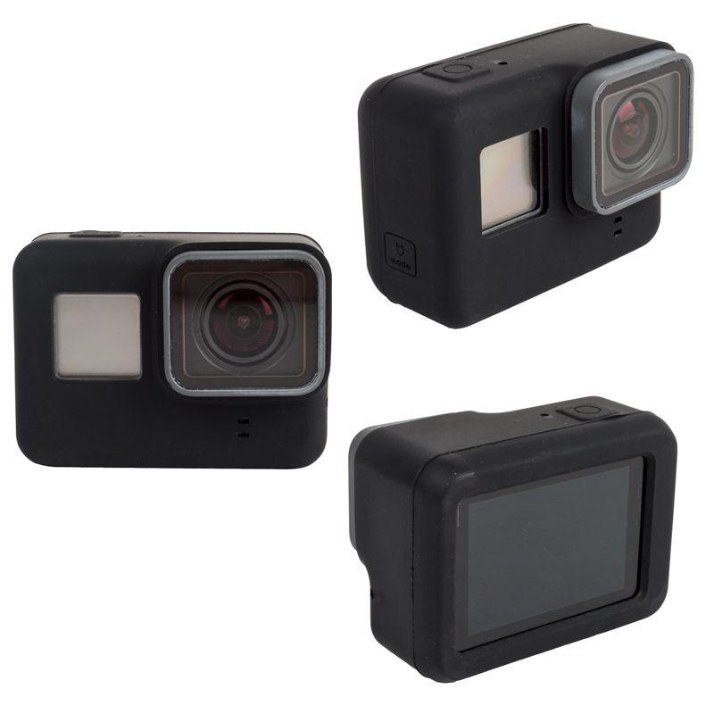 Kit Proteção - Capas Tampa Protetora Película - GoPro Hero5 Hero6 e Hero7