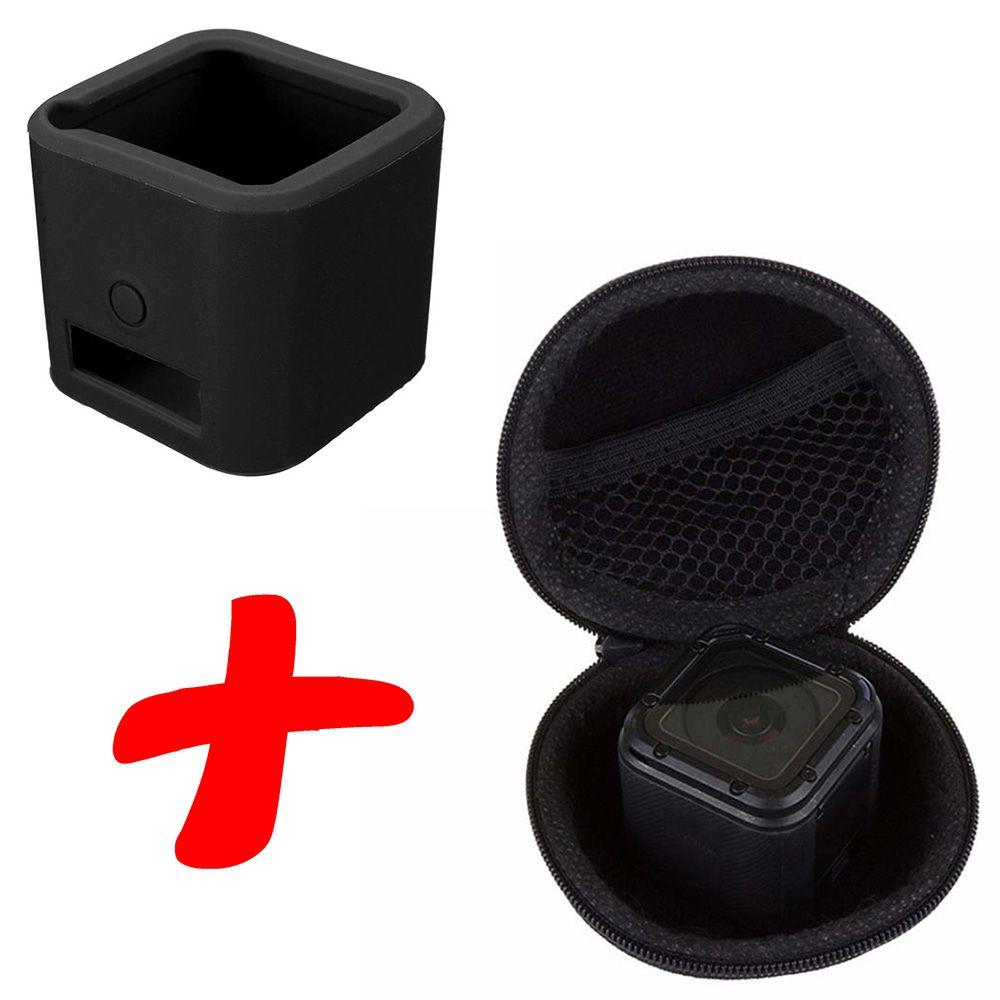Kit Proteção GoPro Hero Session - Capa de Silicone e Case