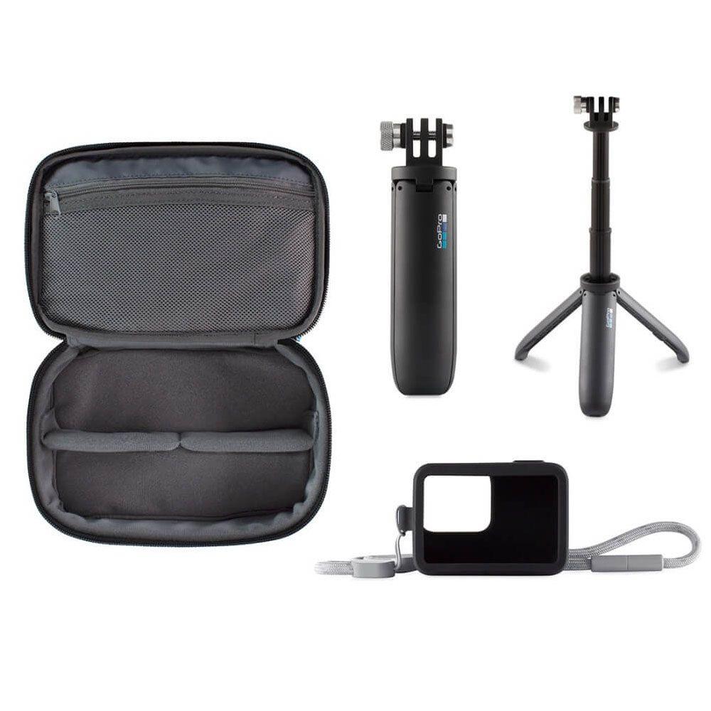 Kit Viagem GoPro - Bastão Shorty + Capa Case Sleeve + Estojo AKTTR-001