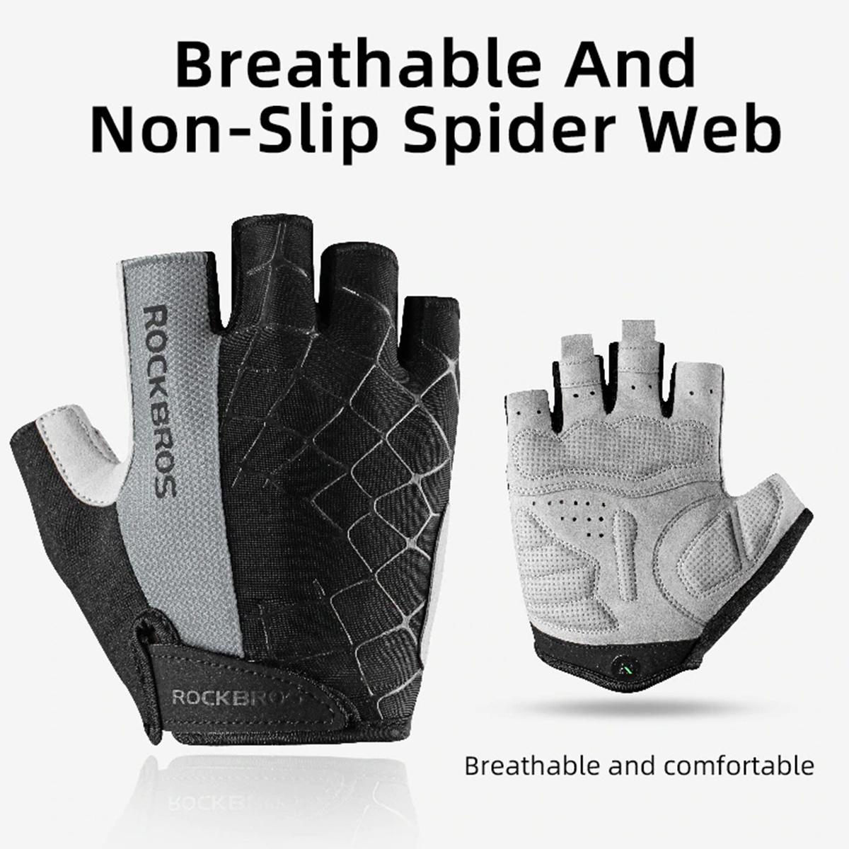 Luva Ciclismo Esportiva Meio Dedo Spider Rockbros