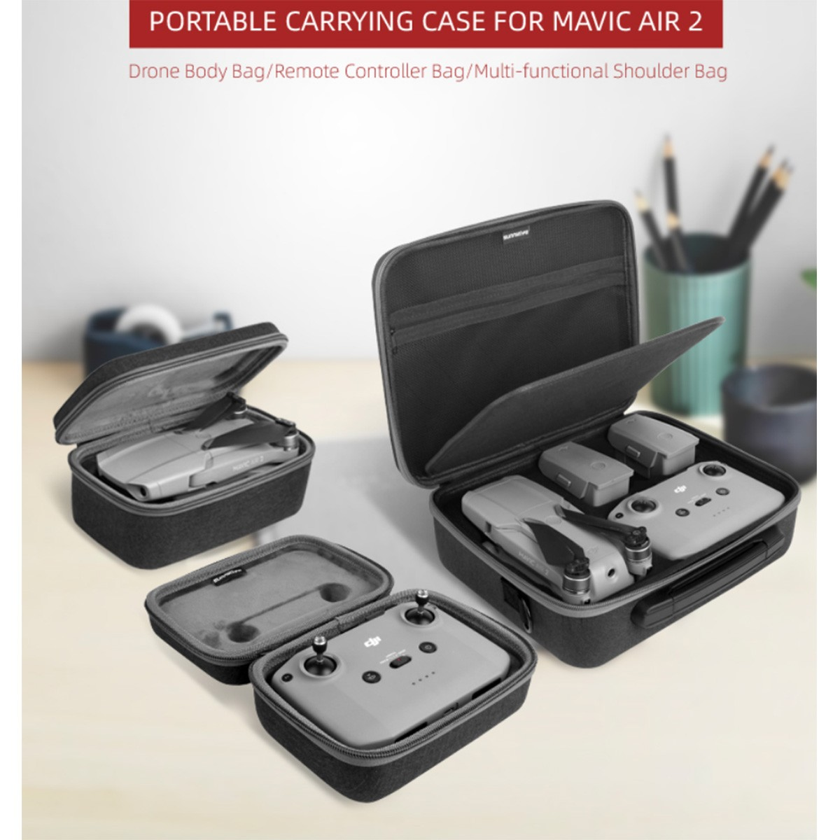 Maleta Case para Drone Controle e Baterias - DJI Mavic Air 2
