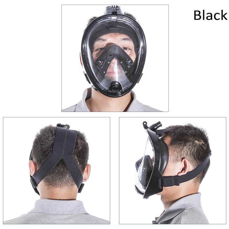 Máscara Óculos de Mergulho com Snorkel Fullface - GoPro SJCAM Xiaomi Eken