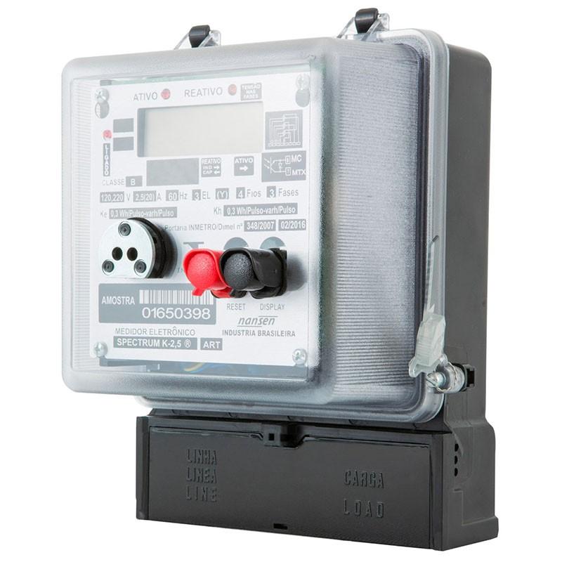 Medidor de Energia - Ativo/reativo - Trifásico Indireto