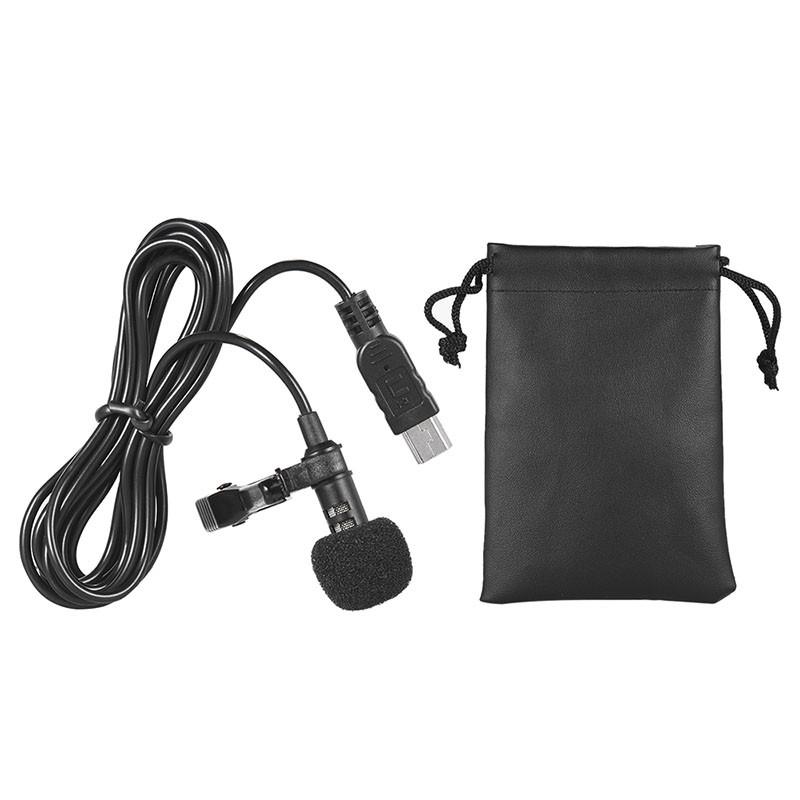Microfone de Lapela - Mini USB - Stereo