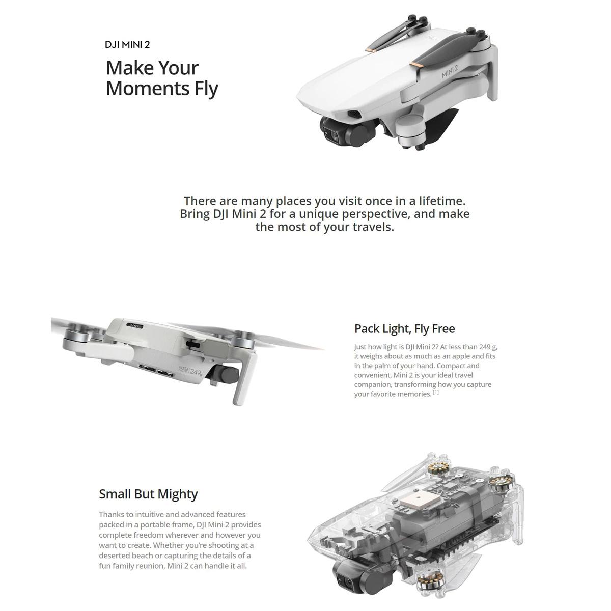 Mini Drone DJI Mavic Mini 2 - Câmera 4K - DRDJI017