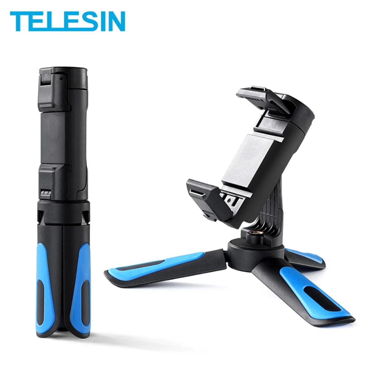 Mini Tripé de Mesa - Celular e Câmeras DSLR - Telesin