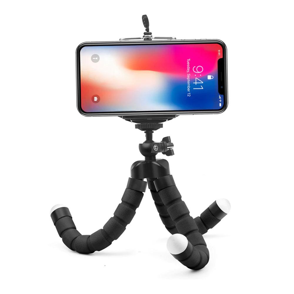 Mini Tripé Flexível Octopus - Suporte para Celular