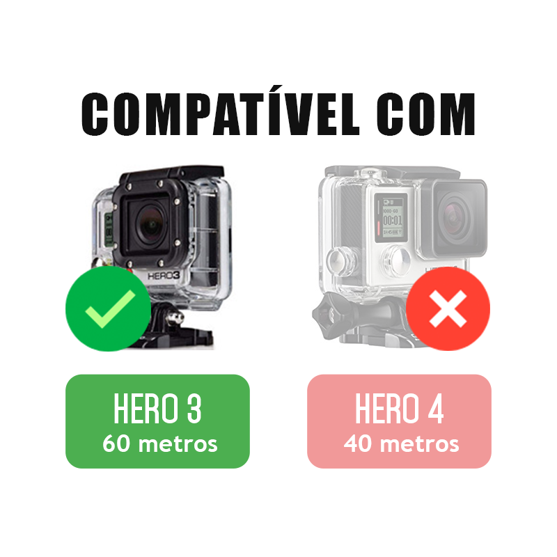 Moldura da Lente da Caixa Estanque - GoPro Hero3 - 60 Metros