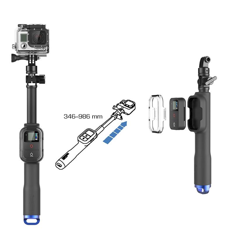 Bastão Extensor - Pau de Selfie - Monopod com Suporte para Controle Remoto - GoPro