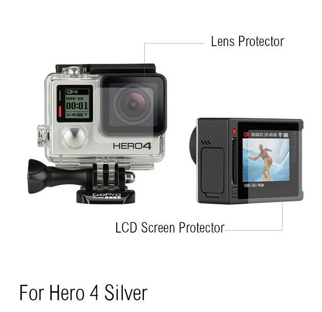 Película de Plástico - Lente e Tela de LCD - GoPro Hero4 Silver