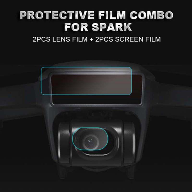 Película de Proteção - Lente e Sensor - Drone DJI Spark - 4 Peças