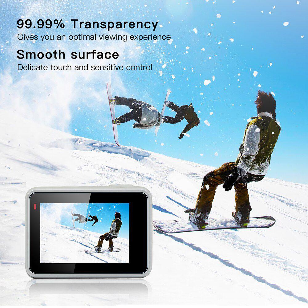 Película de Vidro - Lente e Tela de LCD - GoPro Hero7 White Silver