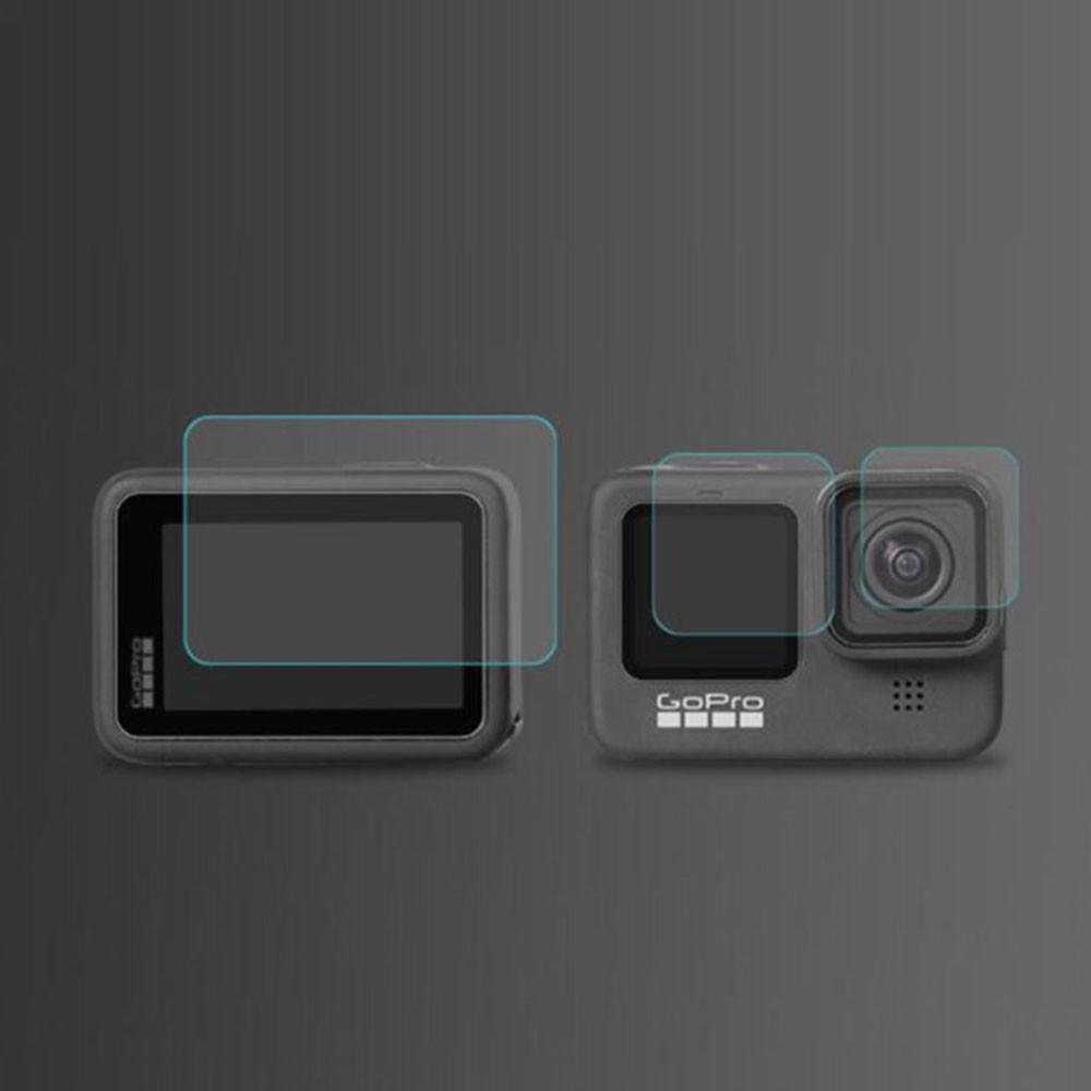 Película de Vidro - Lente, Tela de LCD e Visor para GoPro Hero9 e Hero10 Black