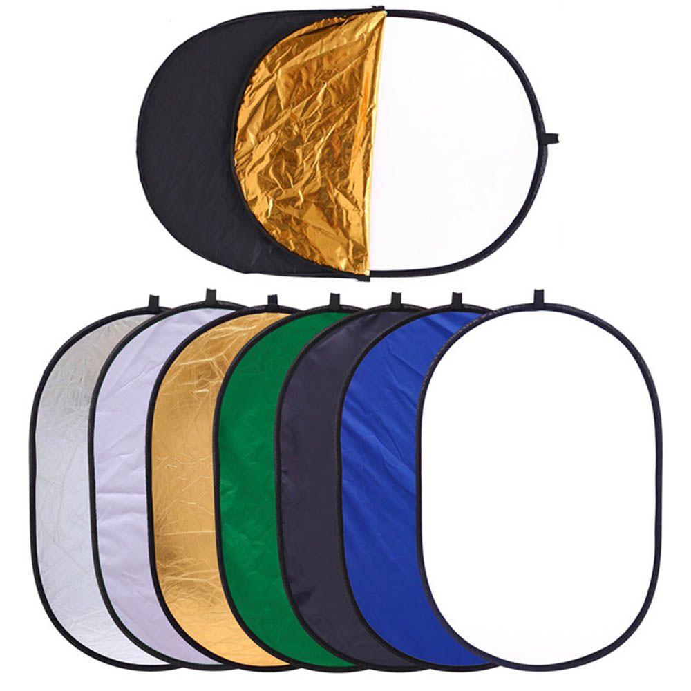 Rebatedor Oval - 7 em 1 - 120 x 180cm - Refletor Fotográfico Difusor DSLR