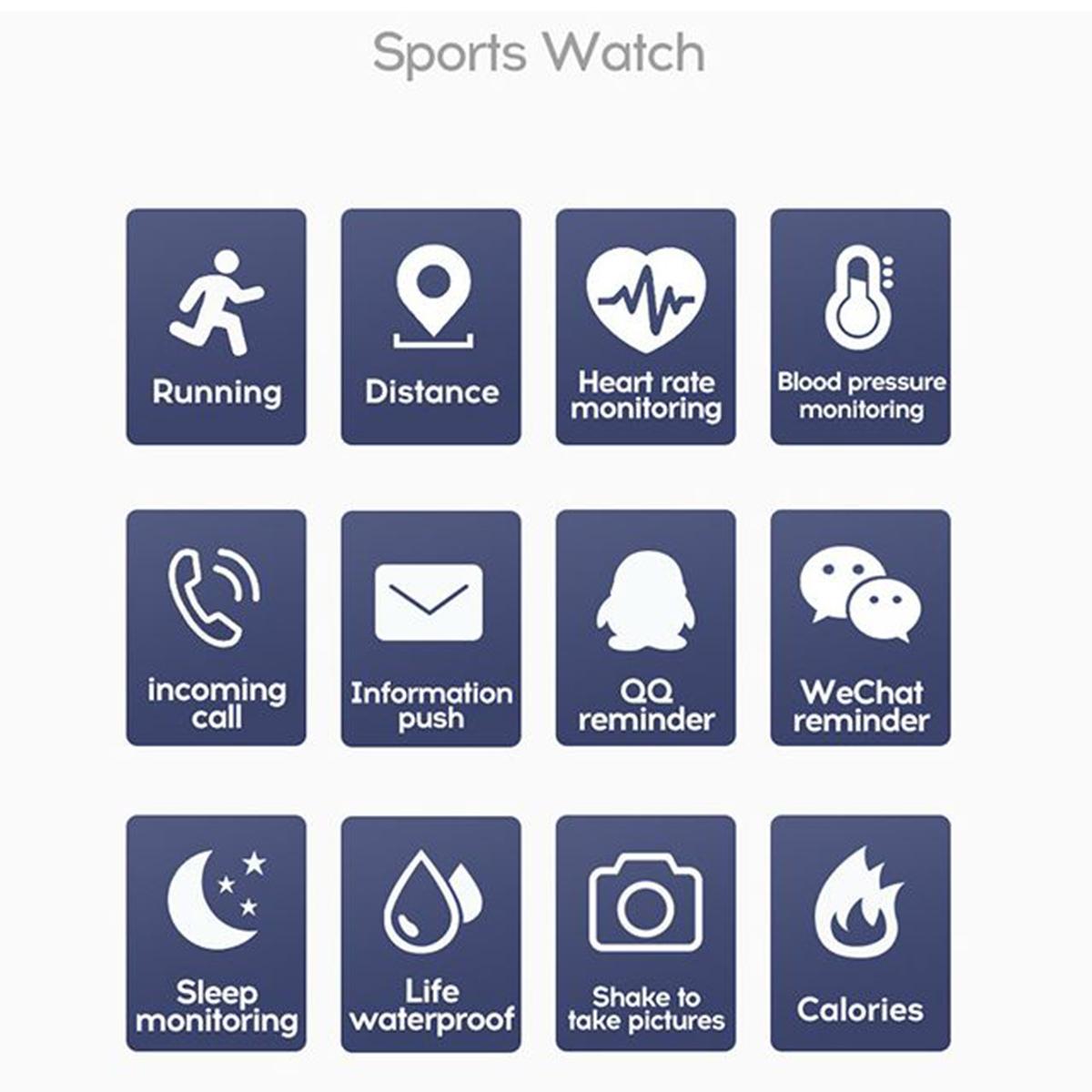 "Relógio Inteligente Smartwatch D20 1.3"" Bluetooth Android/Ios"