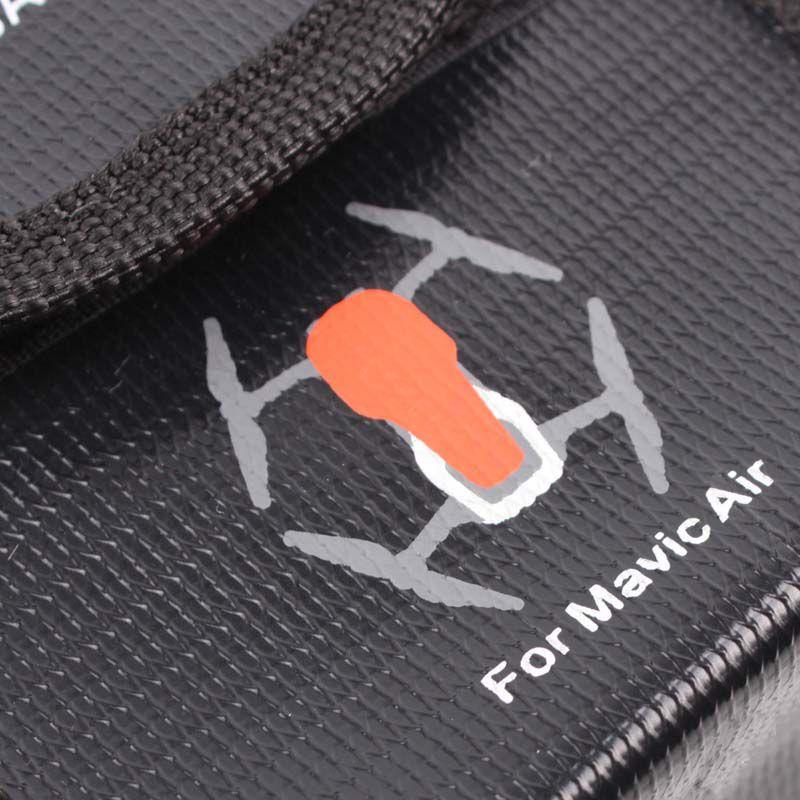 Saco Anti Chama e Explosão para Bateria - Drone DJI Mavic Air - 3 Baterias