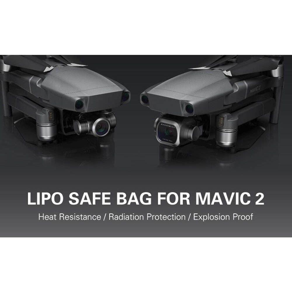 Saco Anti Chama e Explosão para Bateria - Drone DJI Mavic 2 - 3 Baterias