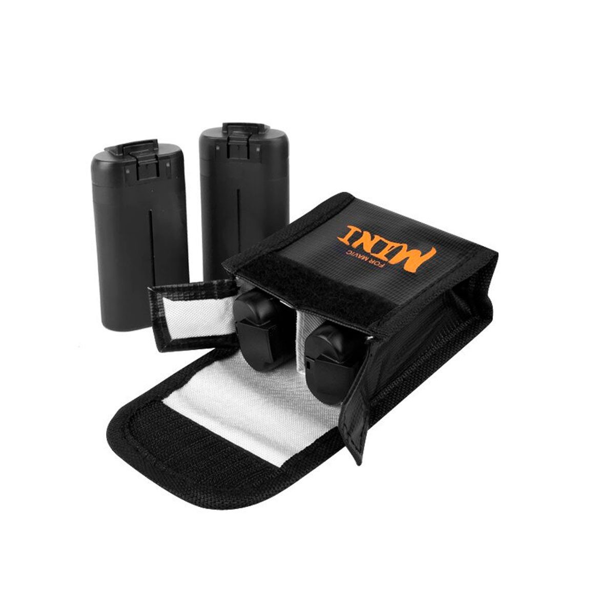 Saco Anti Chama e Explosão para Bateria - Drone DJI Mavic Mini - 2 Baterias