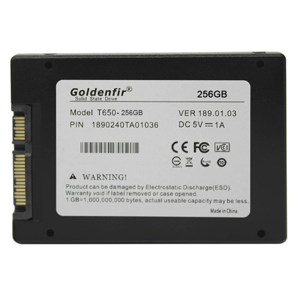 SSD Goldenfir - T650 256GB - Notebook Ultrabook PC Desktop