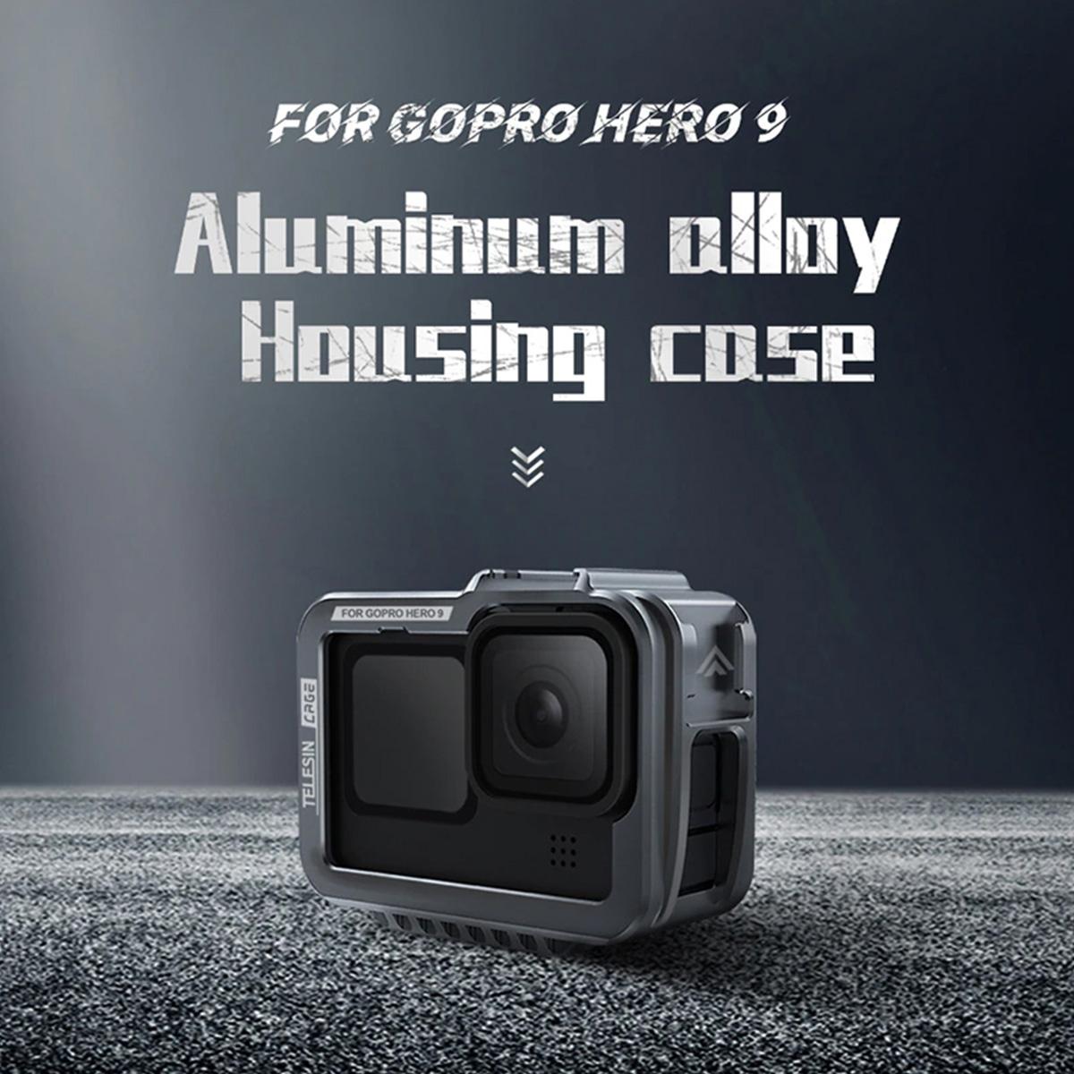 Suporte Armação Moldura Frame - Alumínio para GoPro Hero9 e Hero10 Black - Telesin