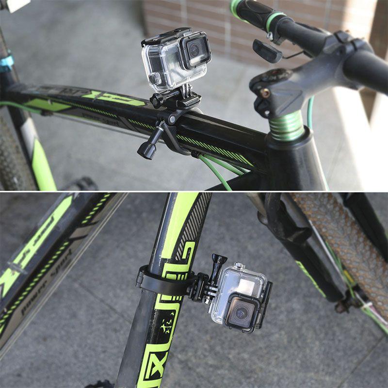 Suporte de Guidão e Assento 360º - Bicicleta Moto Barra Tubular - GoPro SJCAM Eken Yi