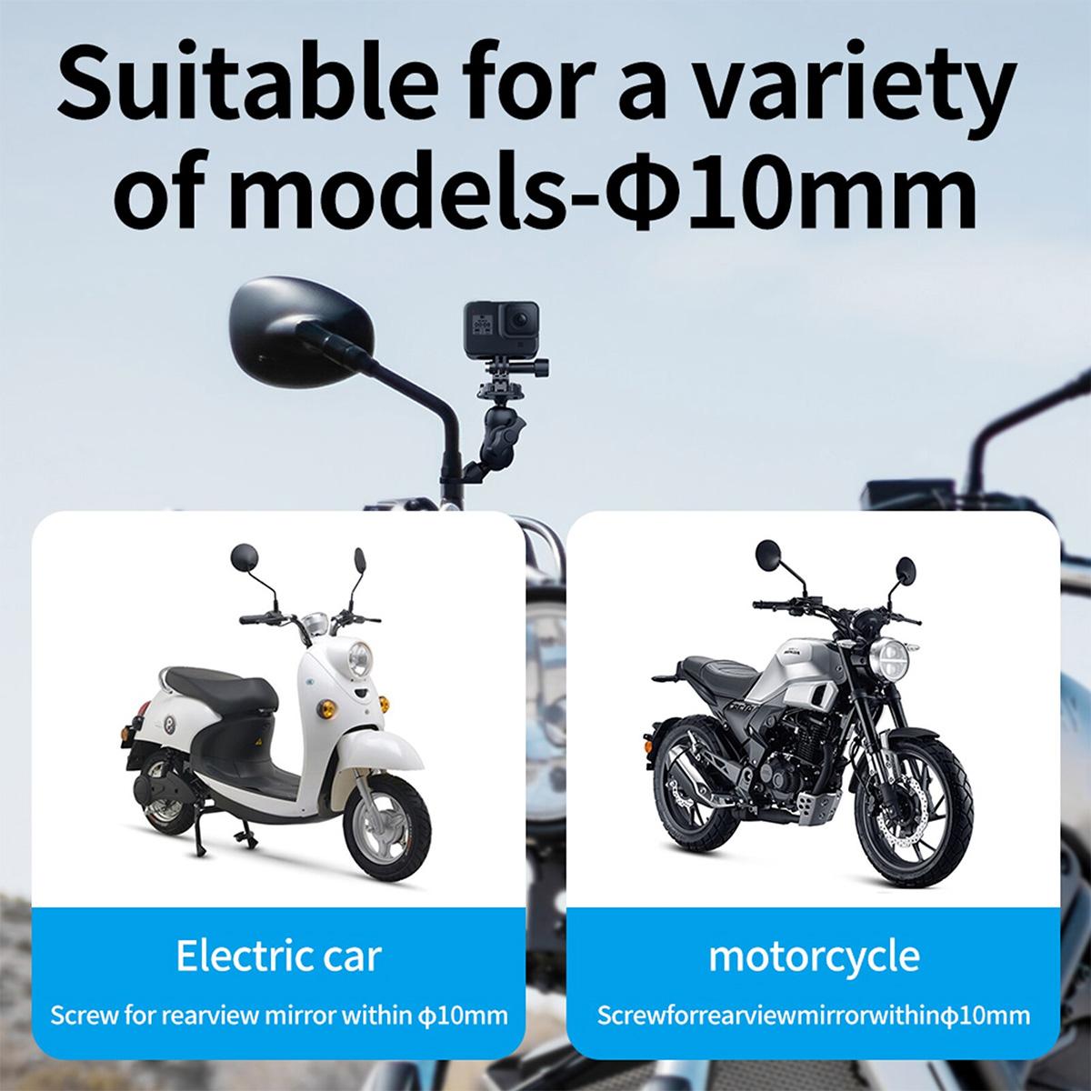 Suporte para Retrovisor de Moto - Engate Rápido - Telesin