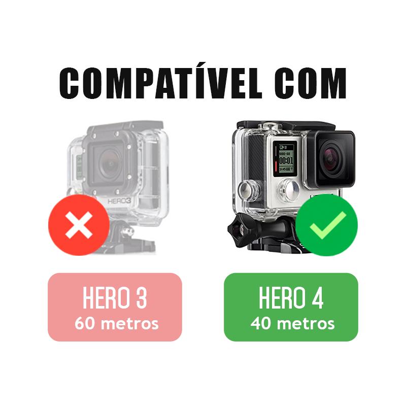 Trava da Caixa Estanque - GoPro Hero3+ e Hero4 - Caixa de 40 metros - Alumínio