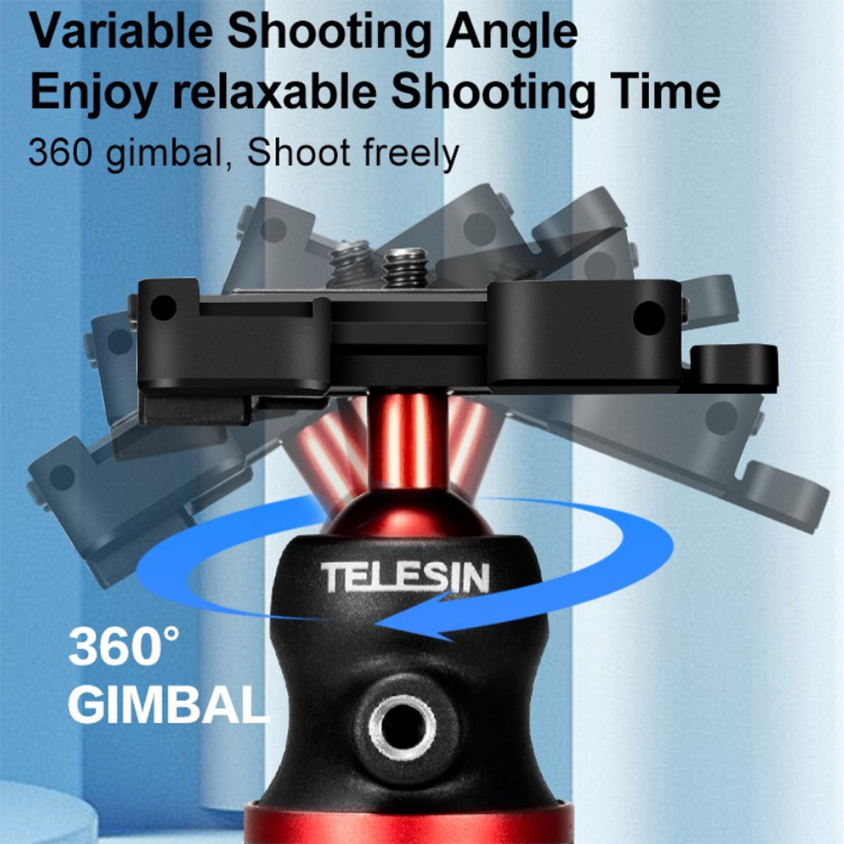 Tripé Flexível para Celular e Câmeras DSLR - Telesin