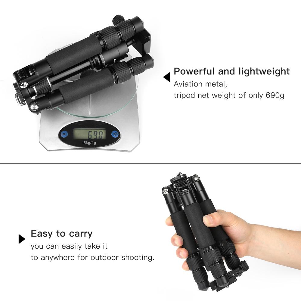 Tripé Fotográfico Profissional - Mini e Compacto - Shoot