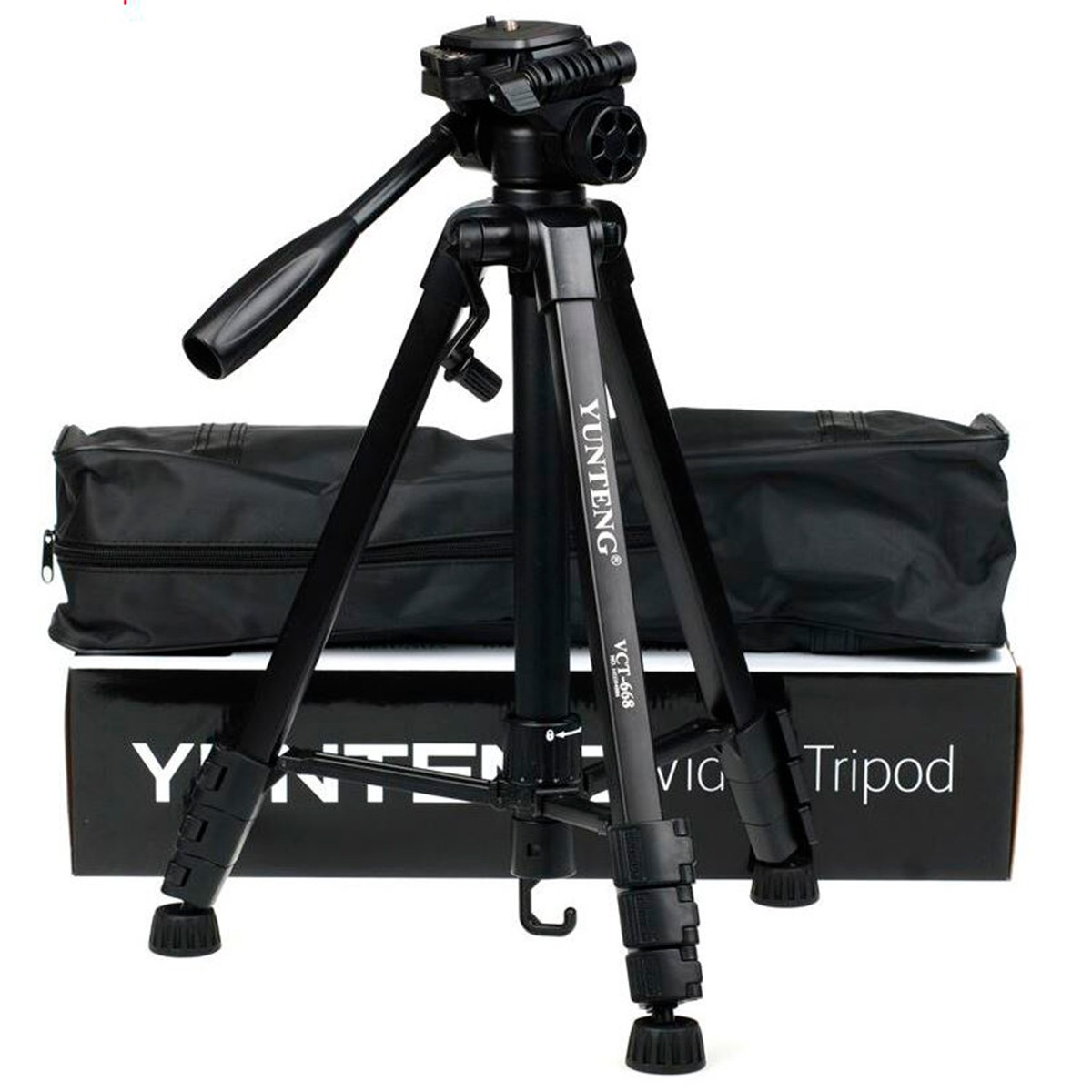 Tripé Universal Aluminio - Yunteng VCT-668 - Câmera Fotográfica e Celular - 146cm