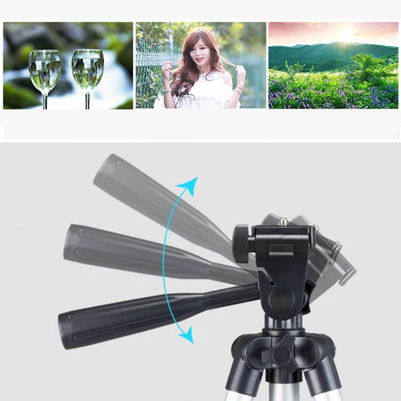 Tripé Universal Telescópico - Câmera Fotográfica e Celular - 50cm