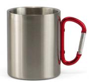 Caneca de Aço Inox  com Alça Mosquetão - 450ml Personalizada