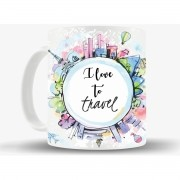Caneca I Love Travel