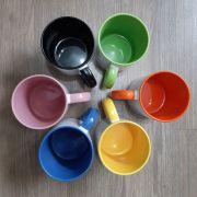 Canecas Alça e Interior Colorido para Personalizar 360 ml